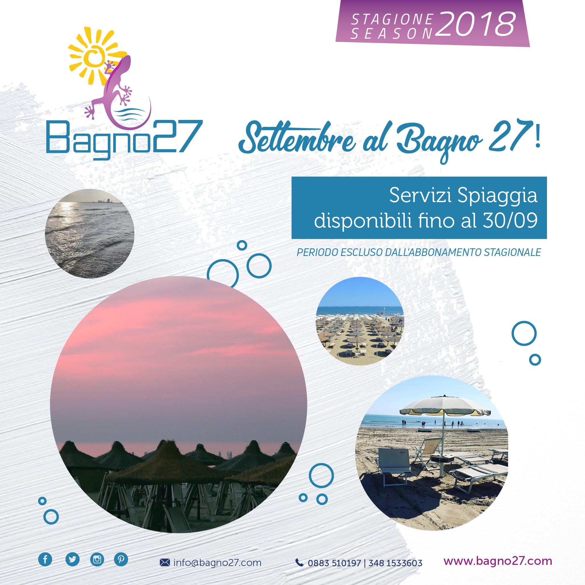 Settembre Al Bagno 27 Bagno 27